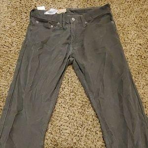 Levi's Pants - Levi's men's 514 straight fit corduroy grey